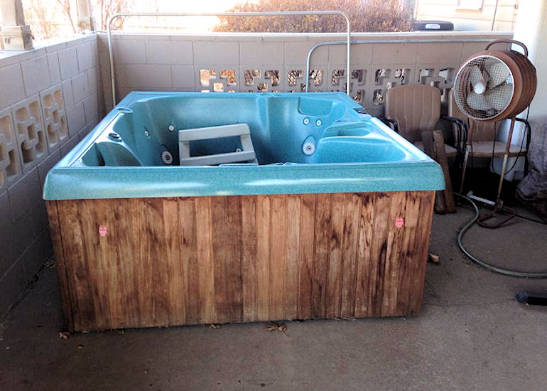 Junk Removal of Hot Tub Before
